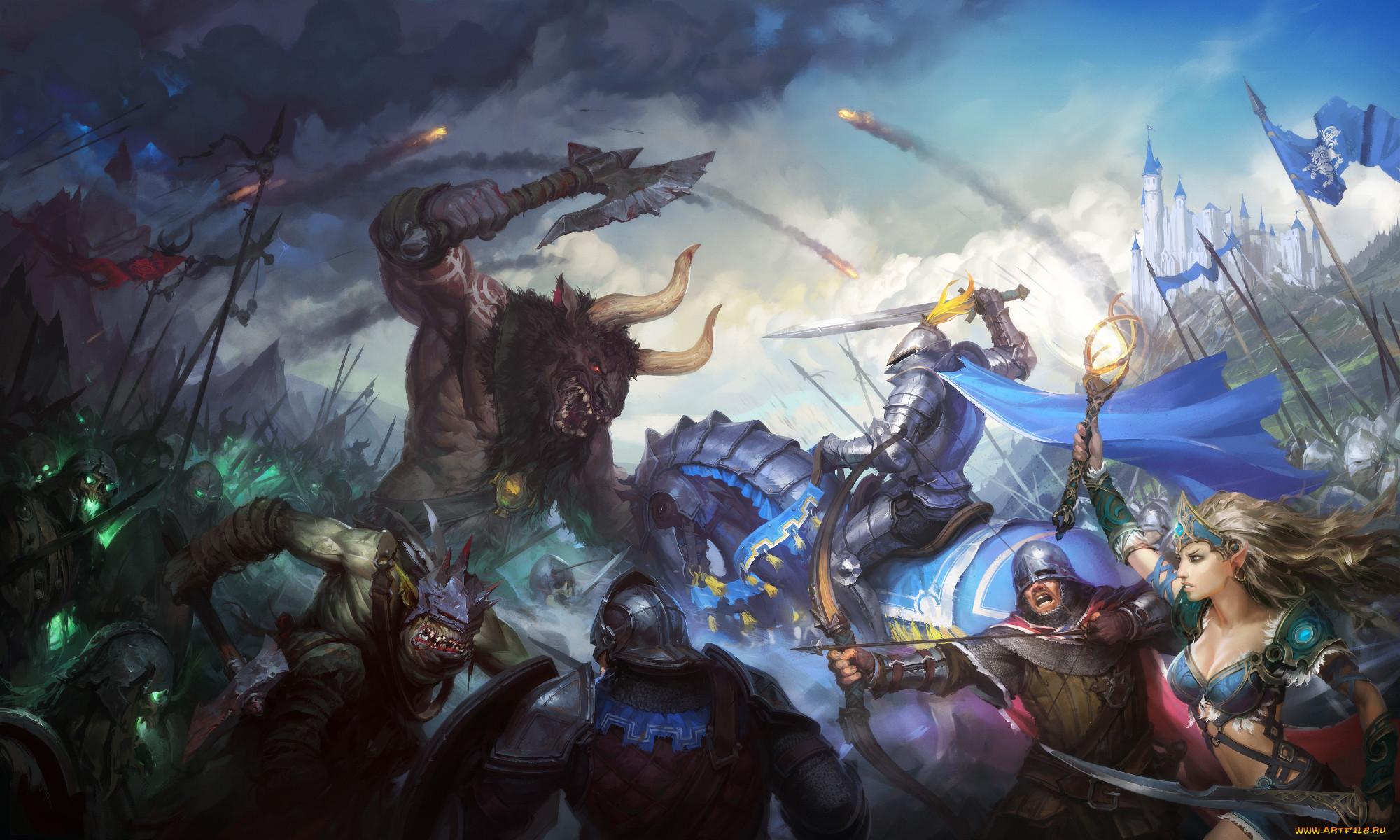 Сражающиеся герои картинка
